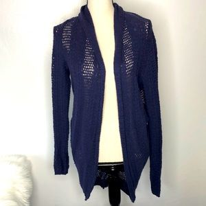Anthro Knitted & Knotted open front sweater size L